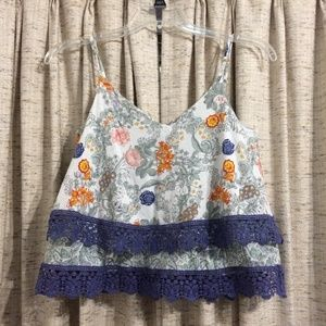 Anthropologie Floreat Tiered Tank Top